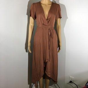 NWT Honey Punch Hi-Low Wrap Dress